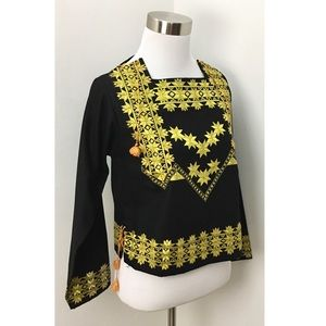 Vintage 70s Embroidered Top